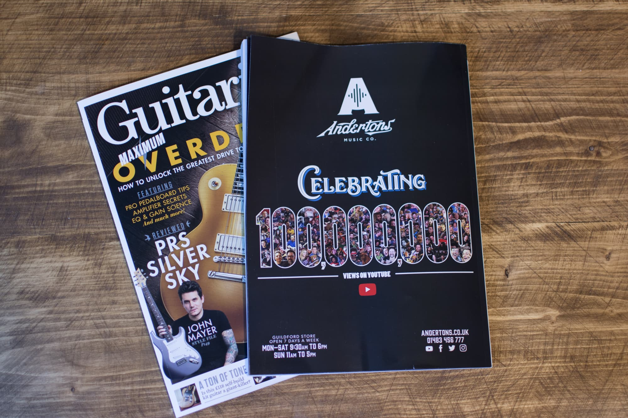 Andertons Music Co: Guitarist Magazine Advertising - Issue 433