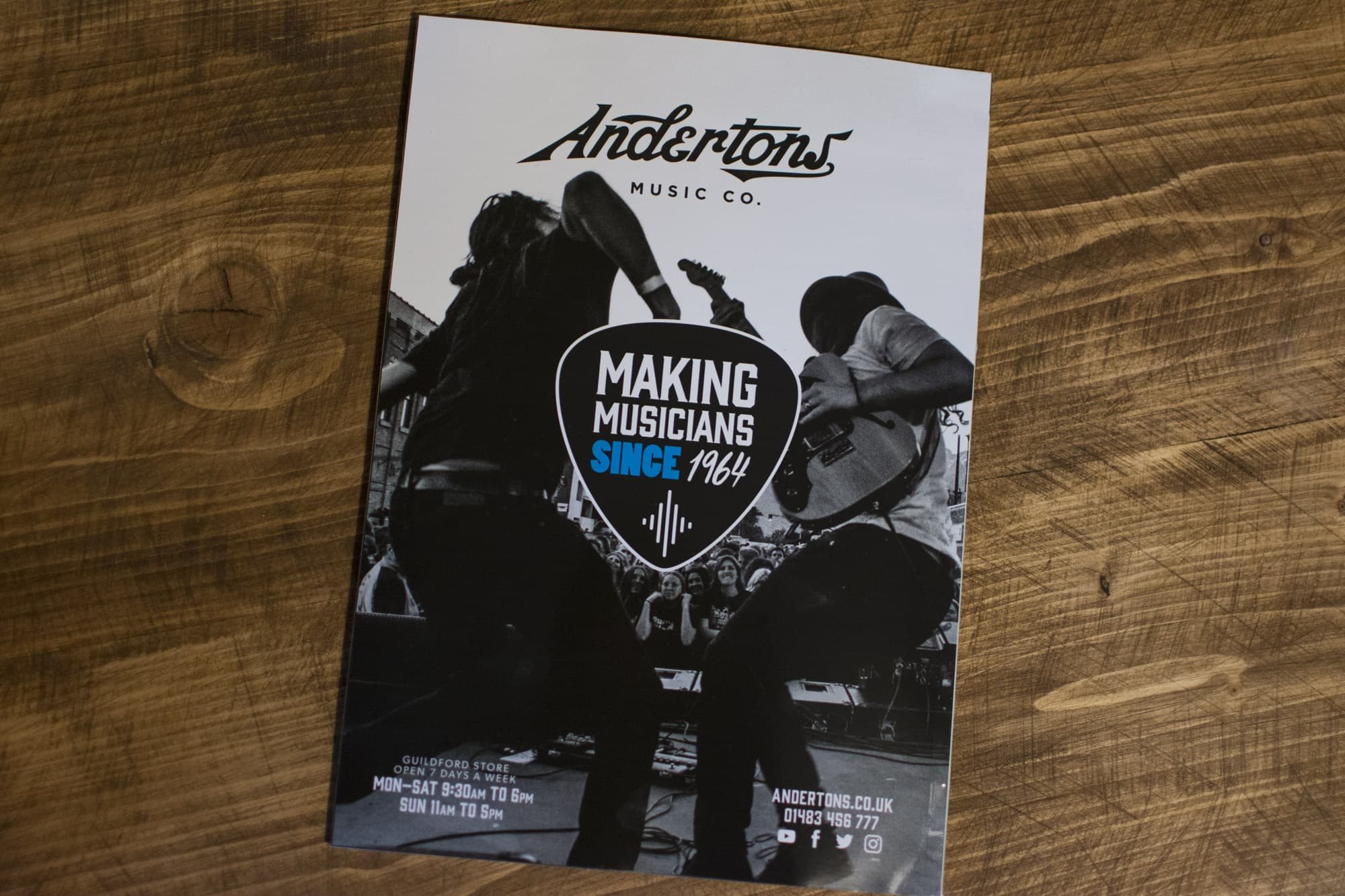 Andertons Music Co: Guitarist Magazine Advertising - Issue 434