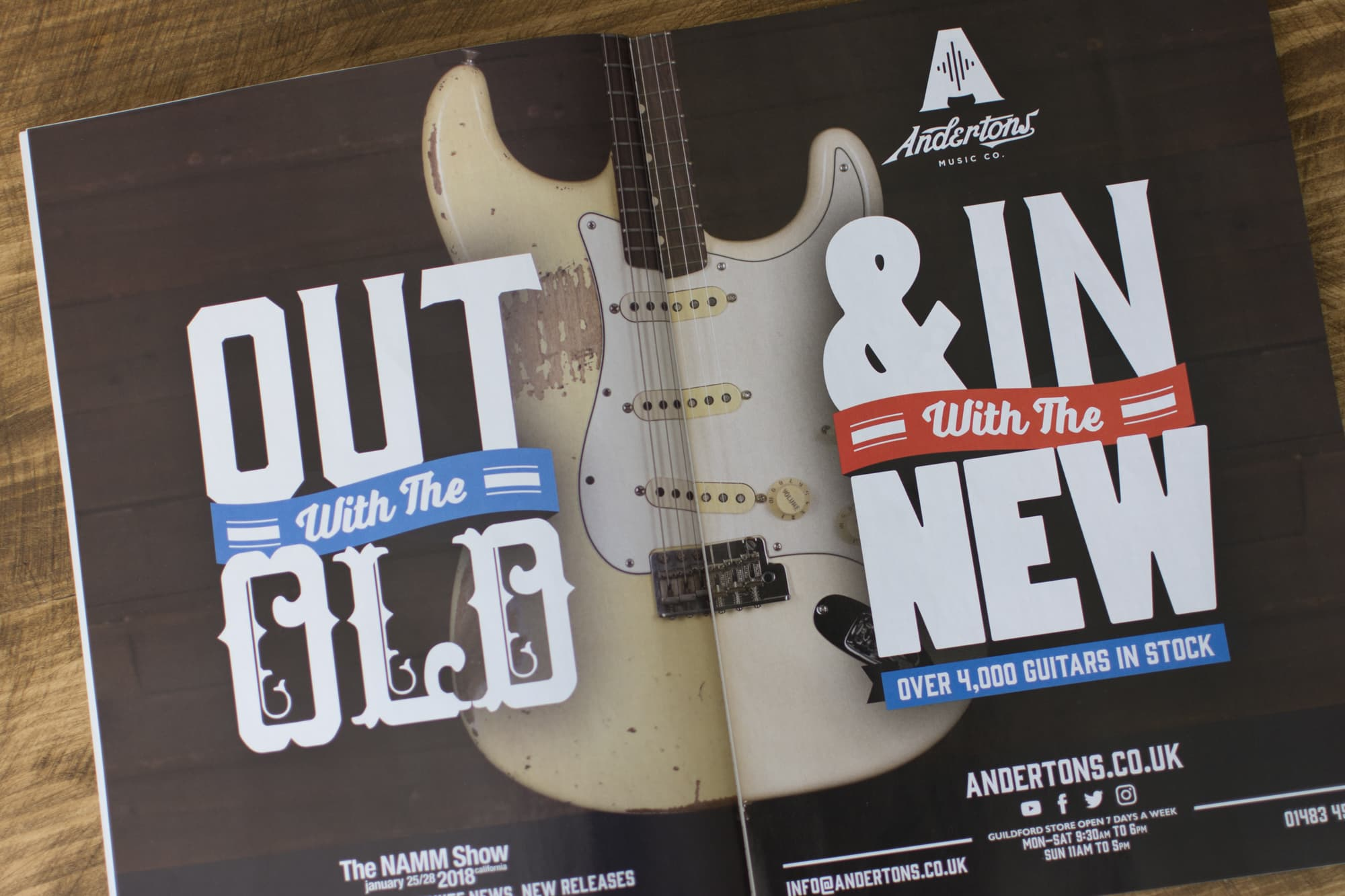 Andertons Music Co: Guitarist Magazine Advertising - Issue 429