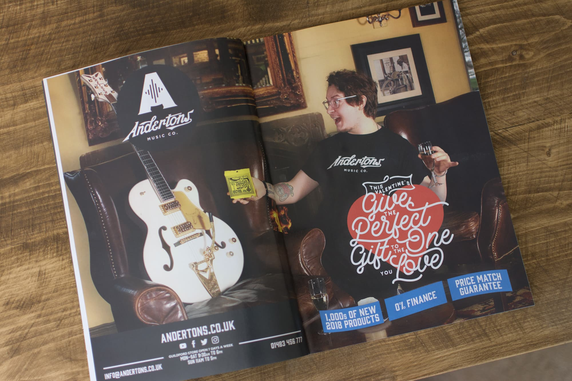 Andertons Music Co: Guitarist Magazine Advertising - Issue 430