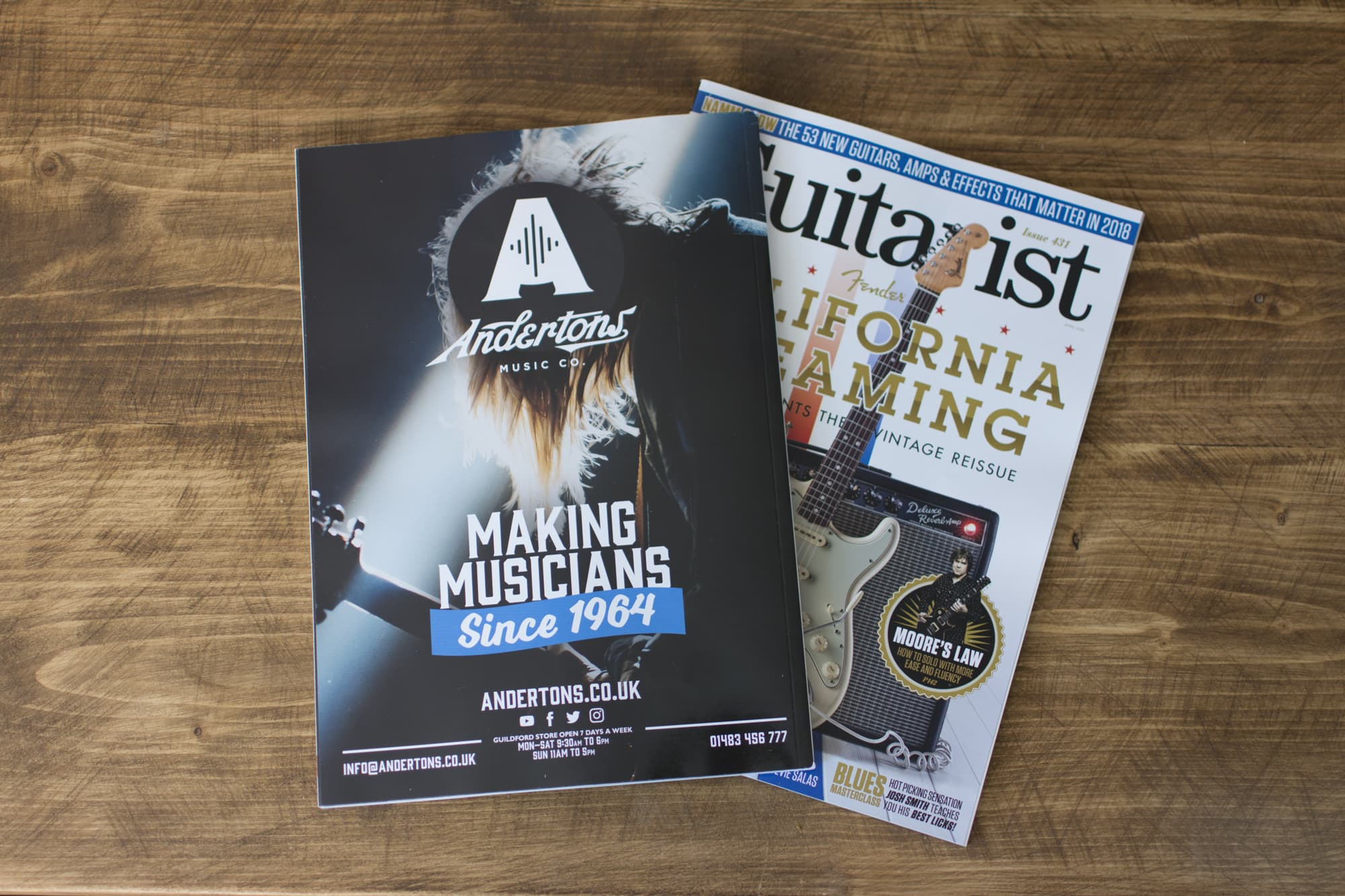 Andertons Music Co: Guitarist Magazine Advertising - Issue 432