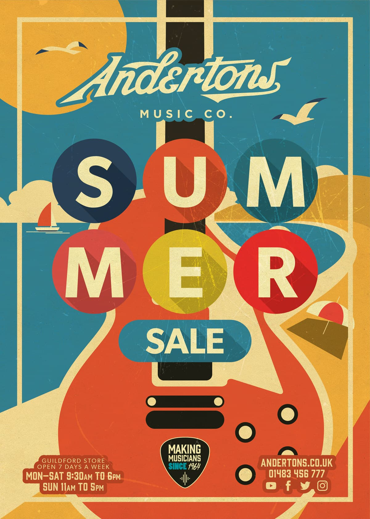 Andertons Music Co: Infographics & Illustrations - Summer Sale Poster