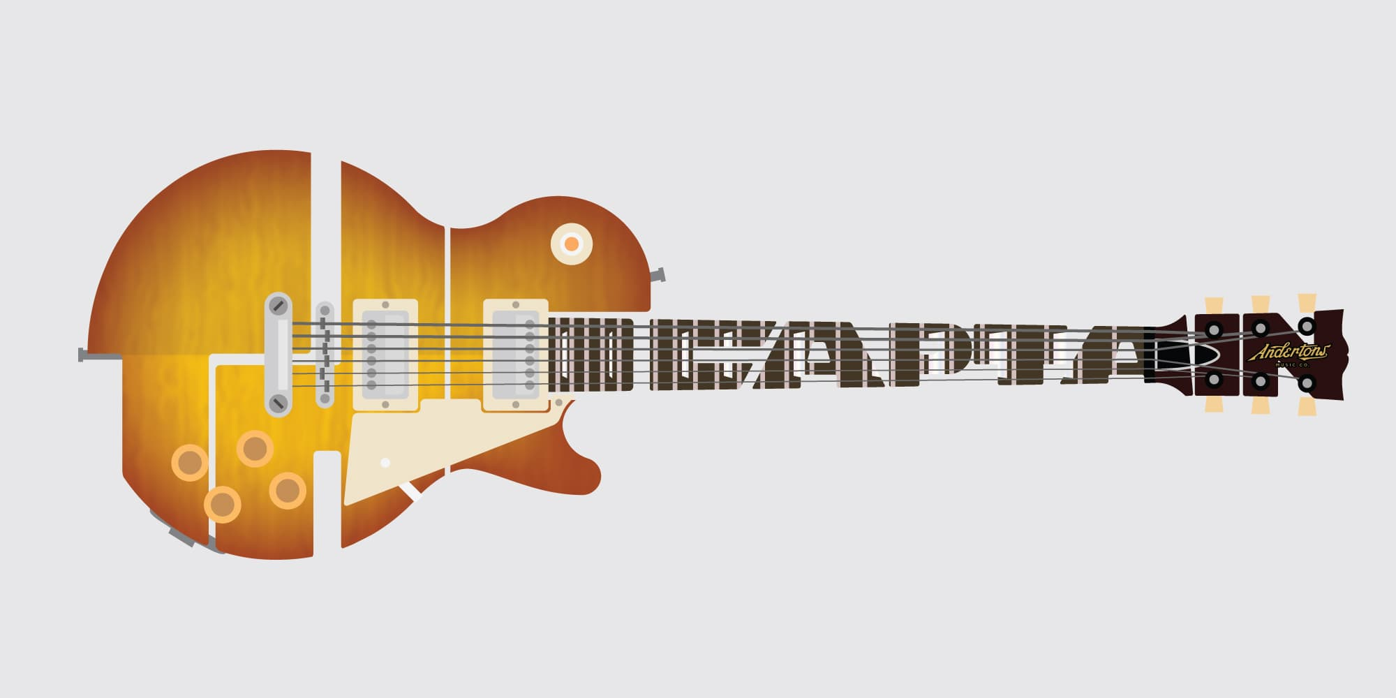 Andertons Music Co: Infographics & Illustrations - The Captain's Guitar