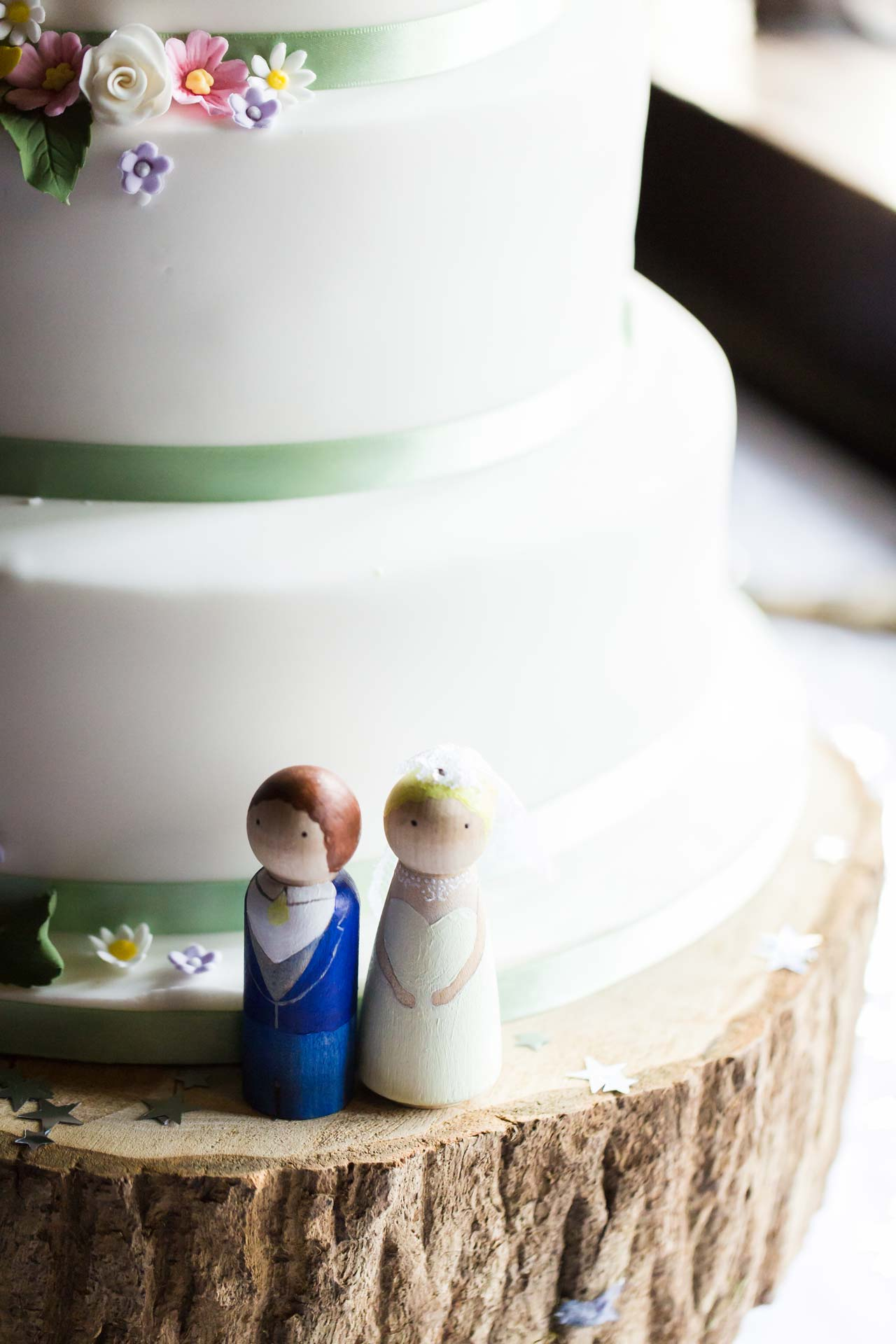Andy & Nicola Wedding Stationery - Wedding cake figures