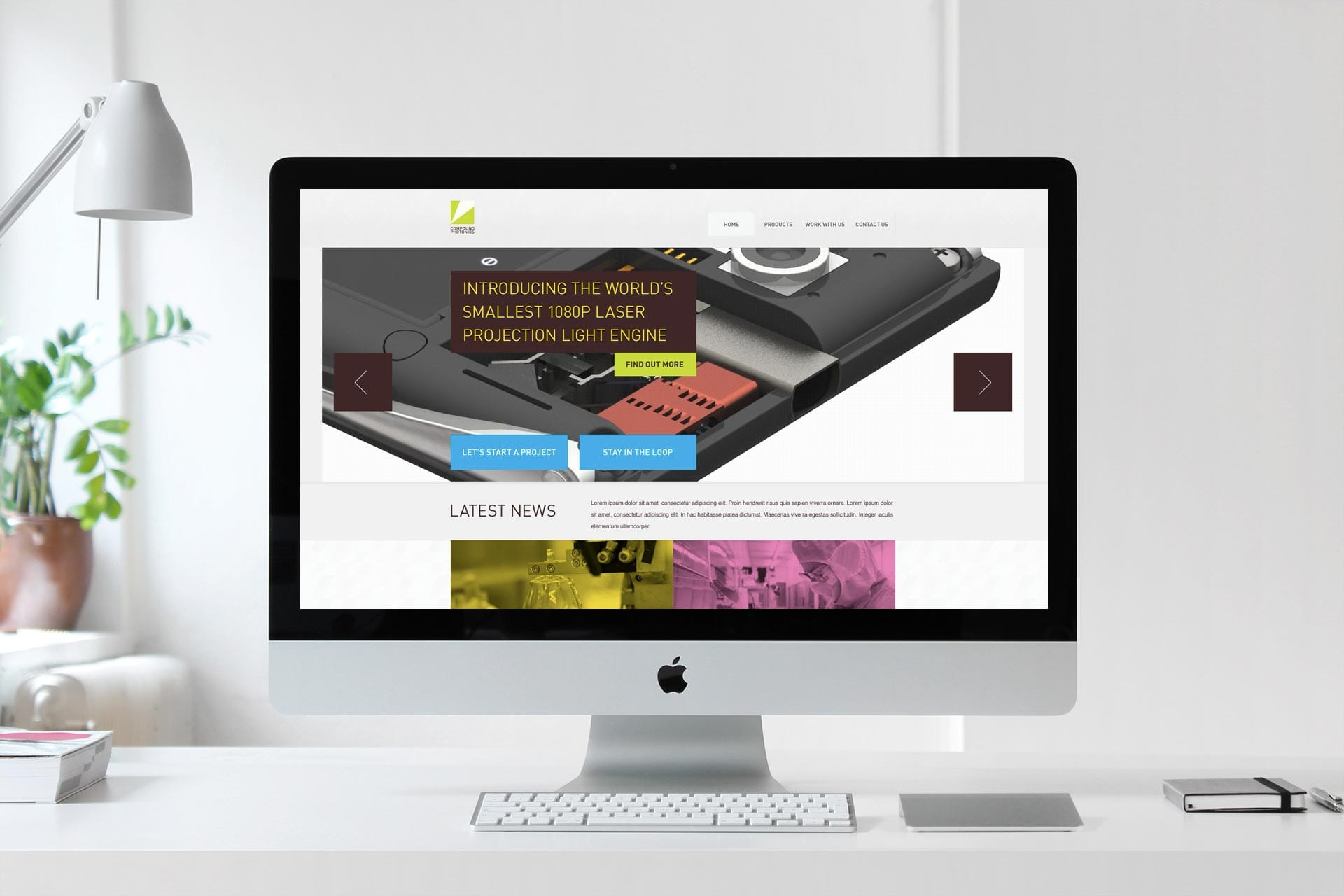 Compound Photonics: Branding & Website - Homepage