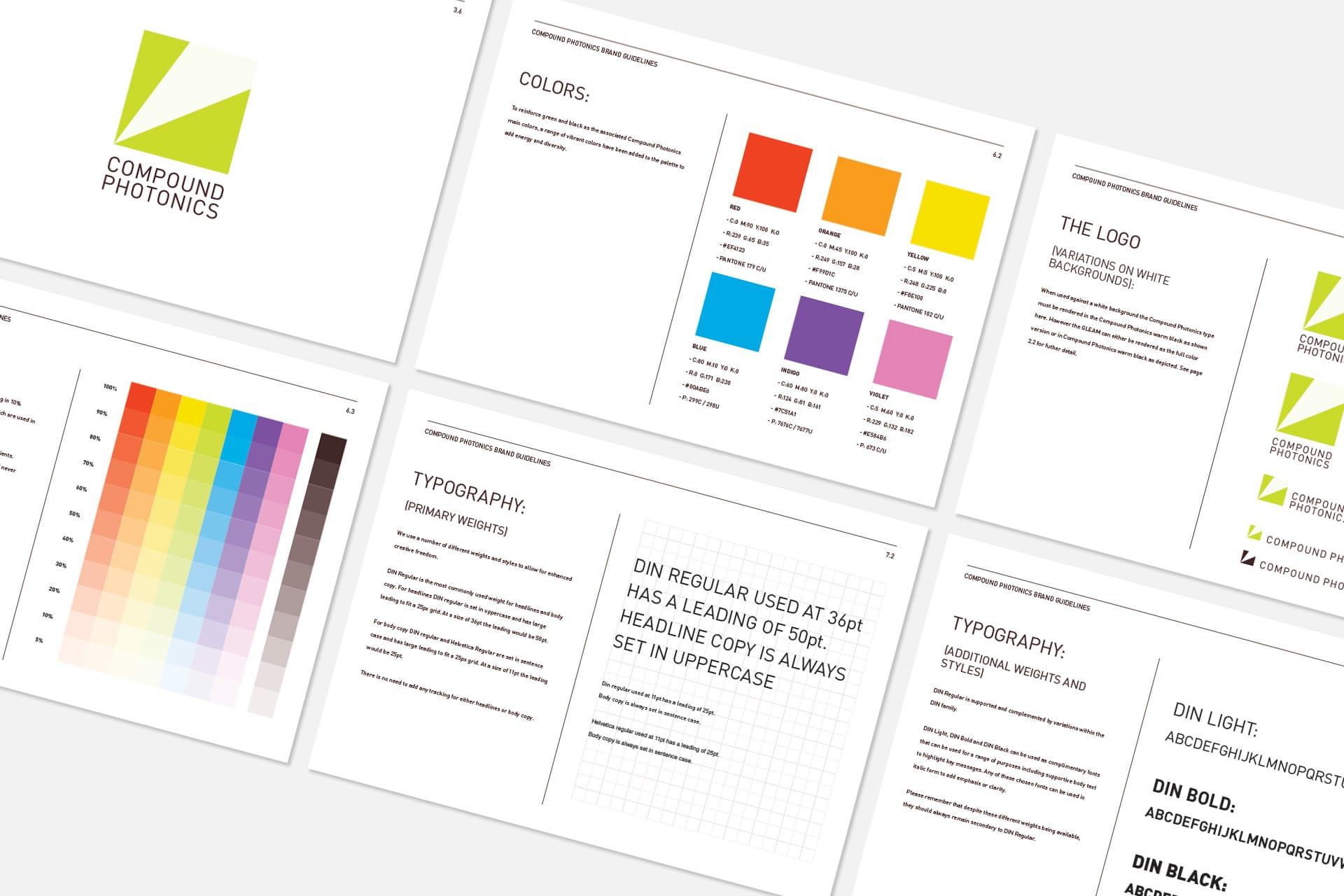 Compound Photonics: Branding & Website - Brand guidelines