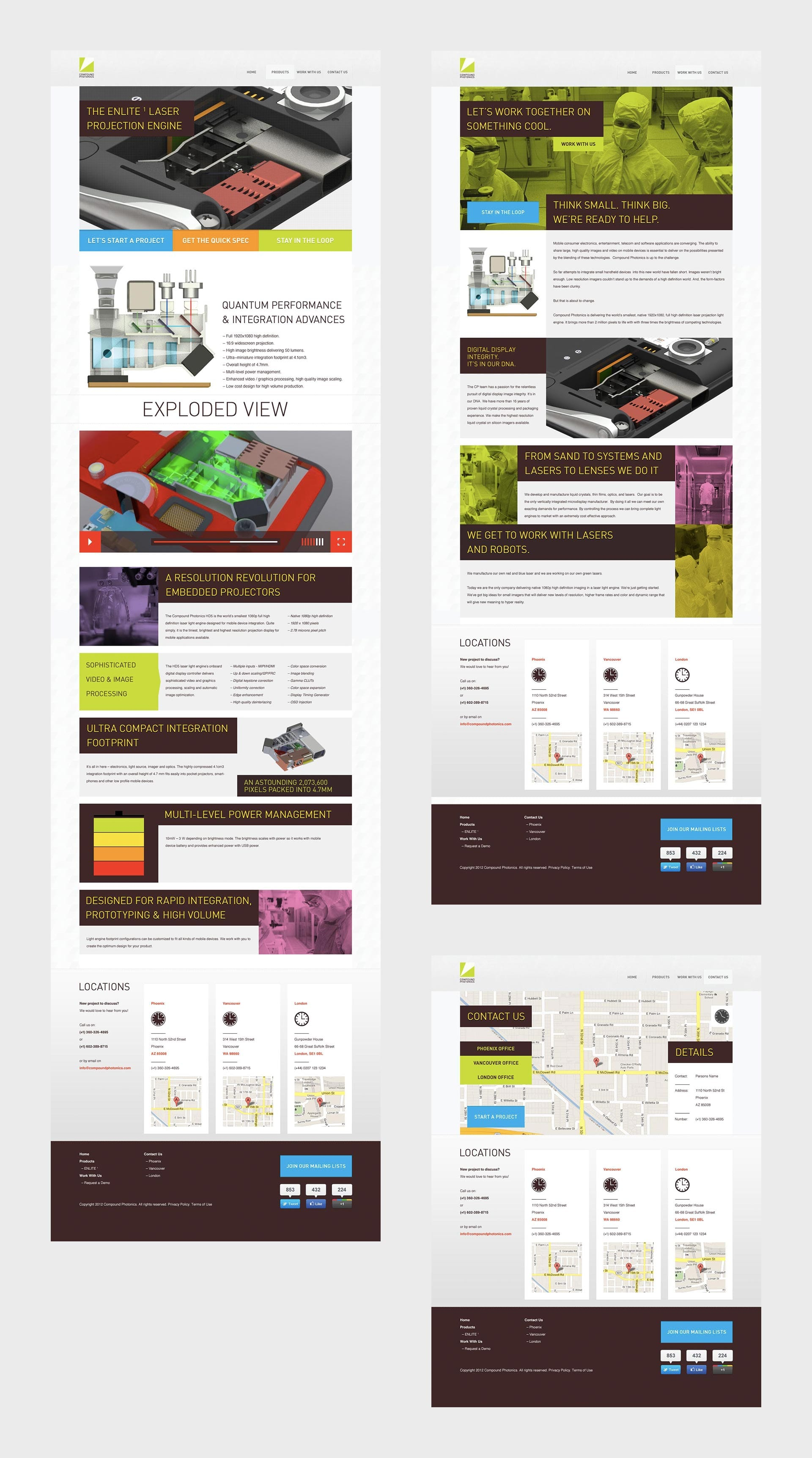 Compound Photonics: Branding & Website - Website