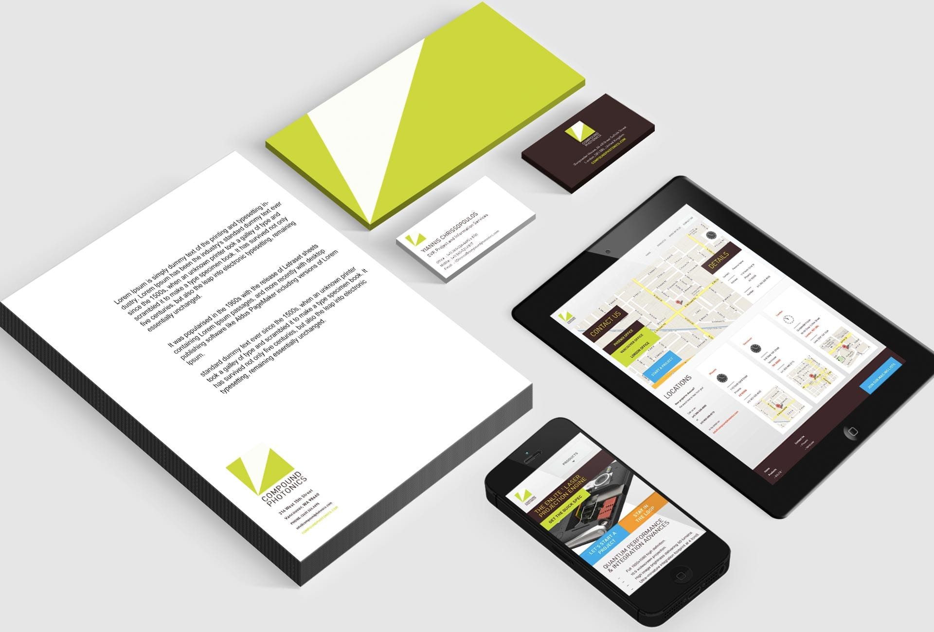 Compound Photonics: Branding & Website - Stationery