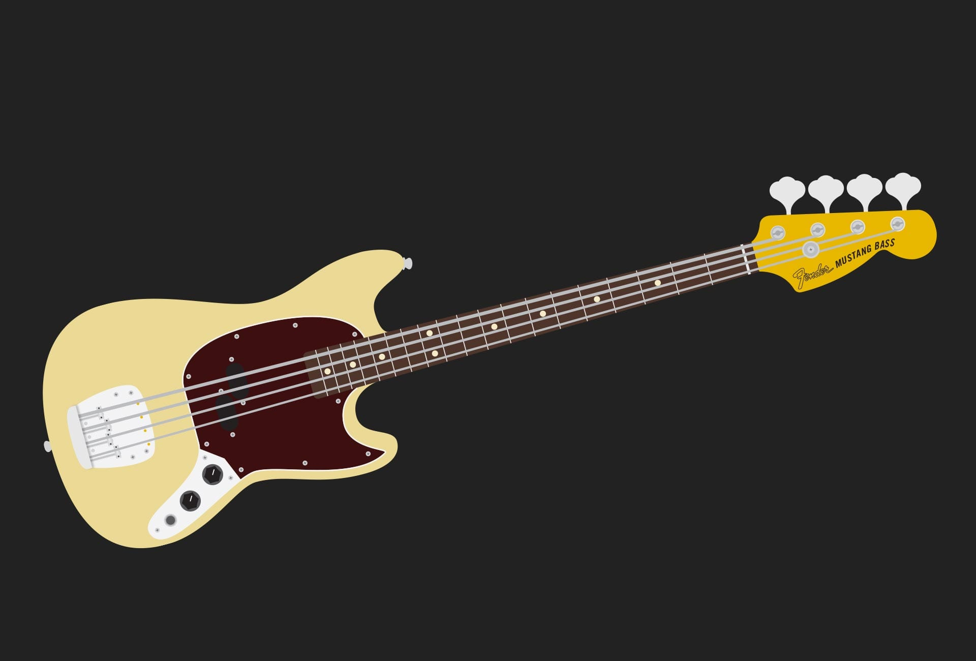 Illustration: Music - Fender Mustang
