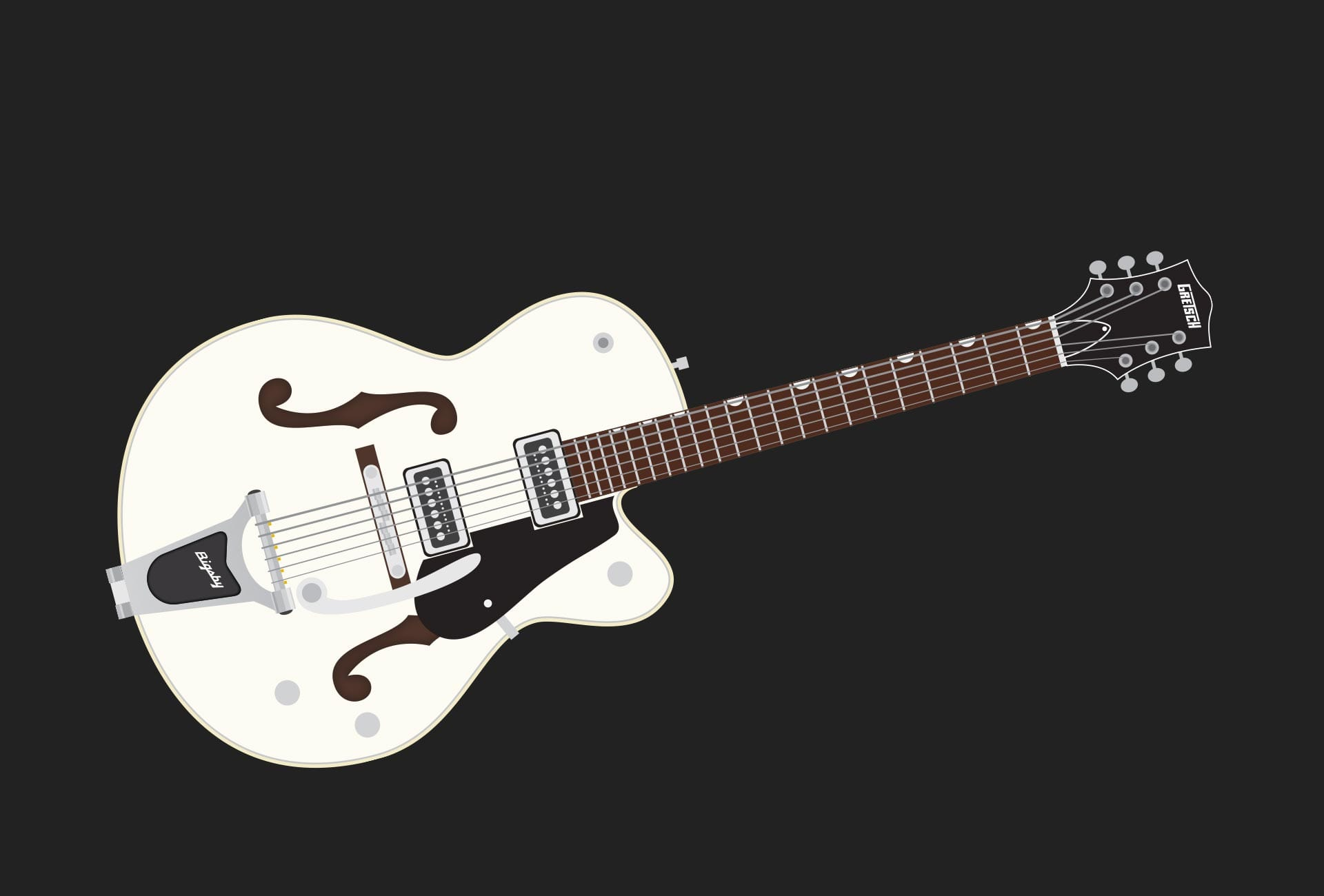 Illustration: Music - Gretsch Electromatic