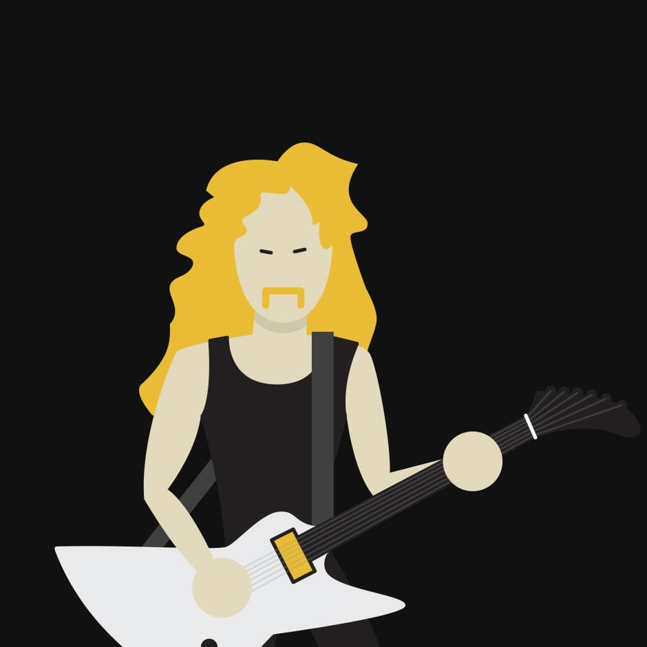 Illustration: Music - James Hetfield