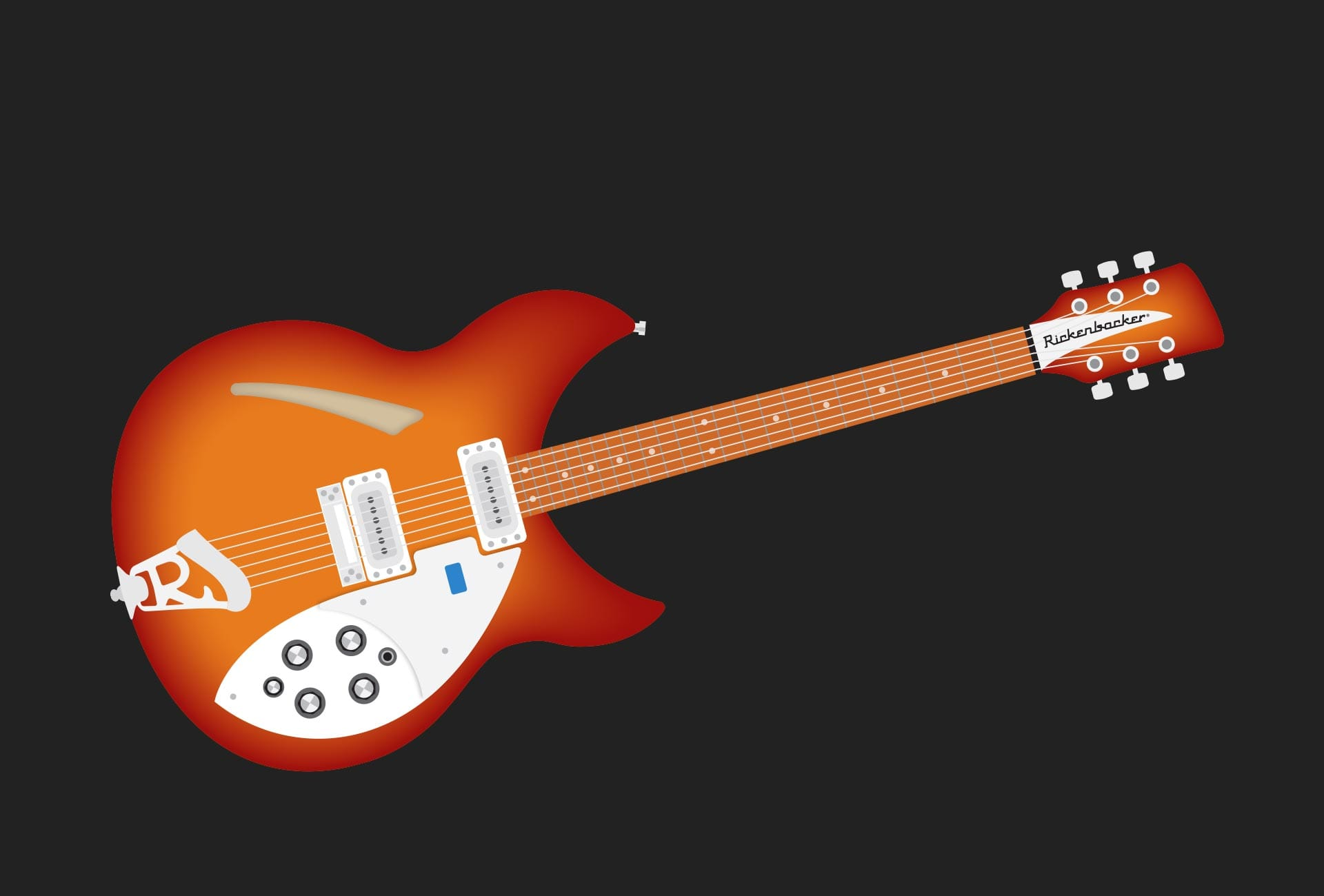 Illustration: Music - Rickenbacker 335