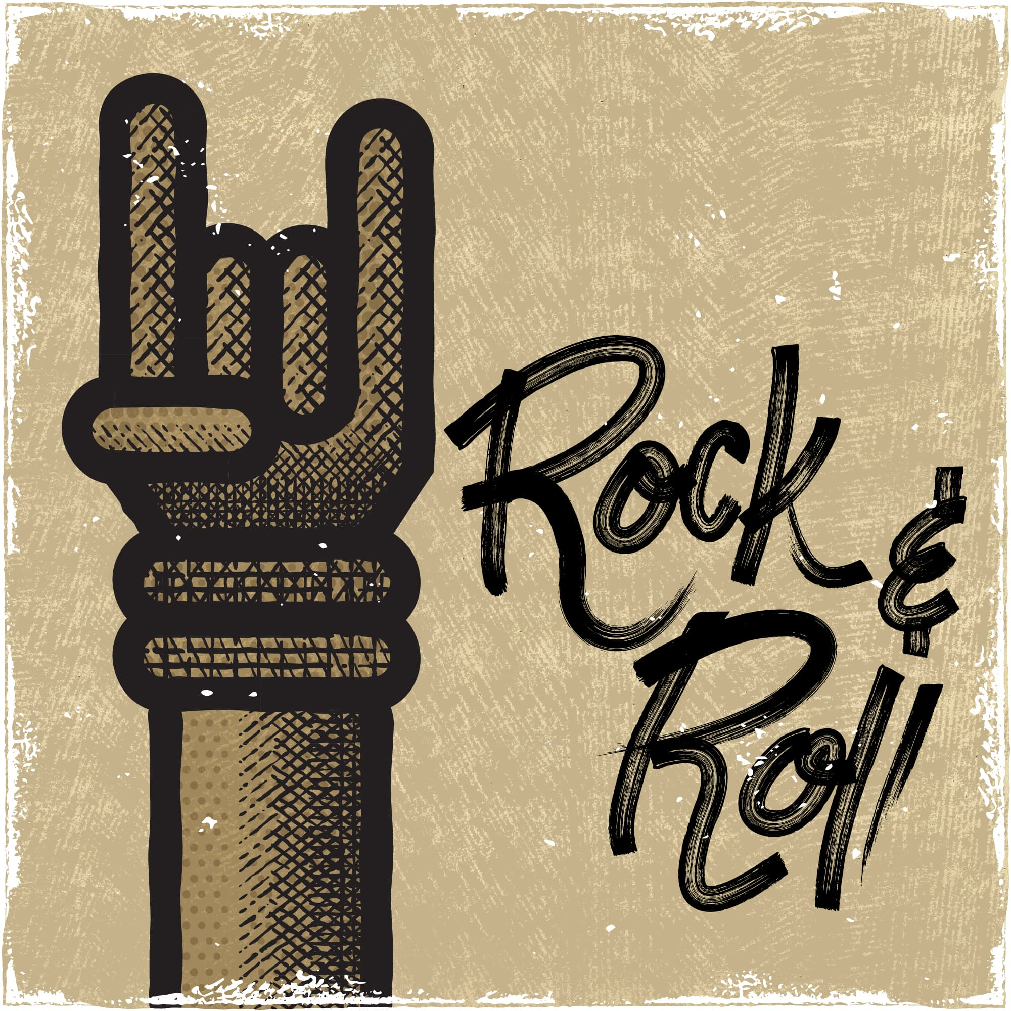 Illustration: Music - Rock & Roll