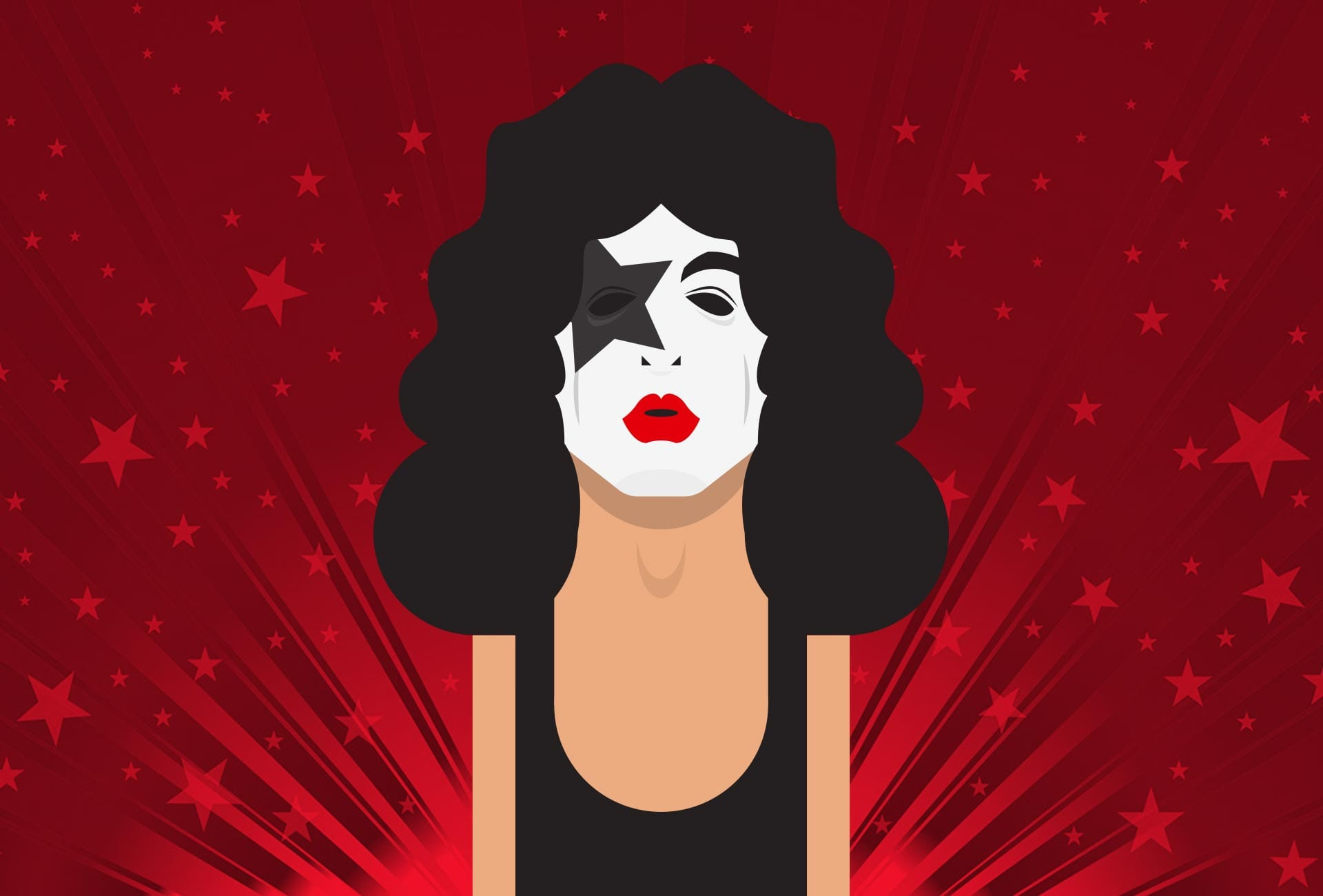 Illustration: Portraits - Paul Stanley